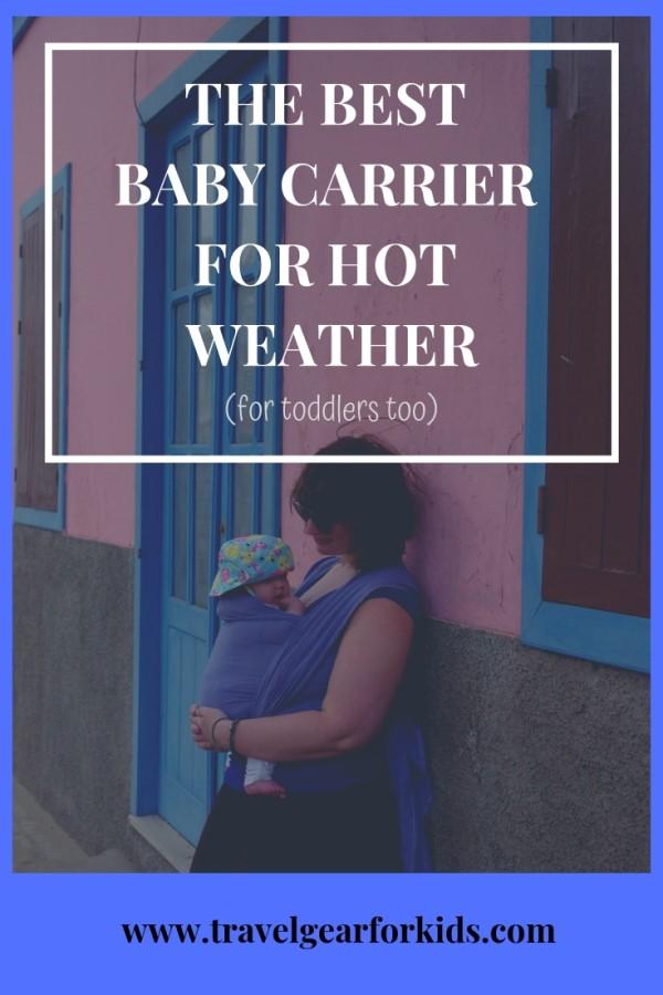 Lien Pinterest à notre article sur le meilleur porte-bébé par temps chaud