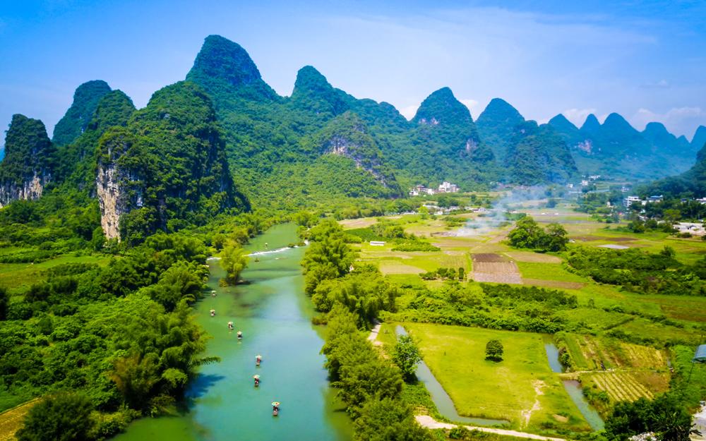 La rivière Li au printemps