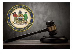 Photo du sceau et du marteau du Delaware AG