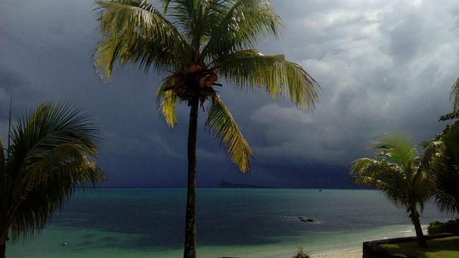 pluie à l'horizon