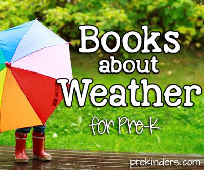 Livres météo pour Pre-K