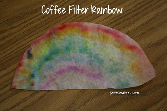 Filtre à café arc en ciel