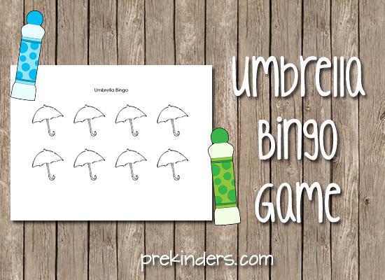 Parapluie Bingo Marker Jeu