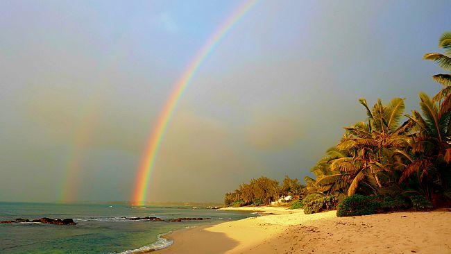 Météo à l'île Maurice avec rainbow