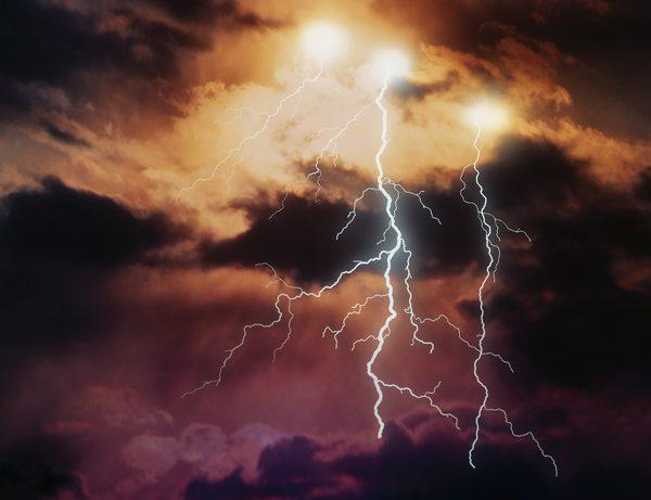 Les tempêtes marquent souvent le passage d'un front froid.