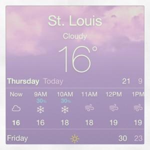 Tellement froid que je gèle!