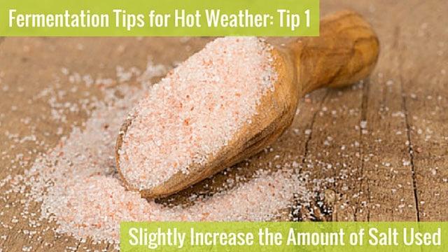 Astuce de fermentation 1: Augmentez la quantité de sel. | makesauerkraut.com