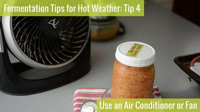 Astuce de fermentation 4: utilisez un climatiseur ou un ventilateur. | makesauerkraut.com