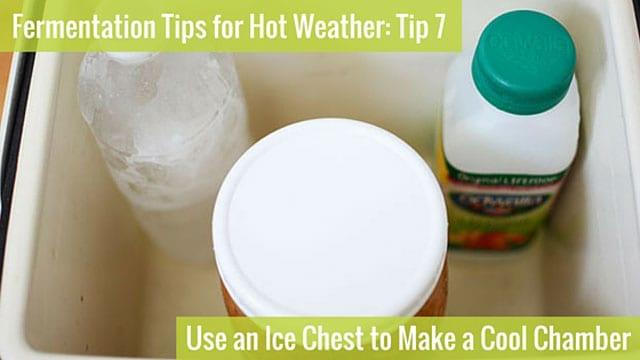 Astuce de fermentation 7: Utilisez un coffre à glace pour faire une chambre froide. | makesauerkraut.com