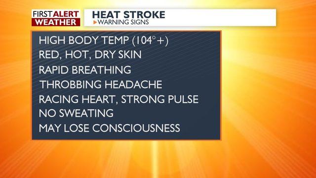 Temps dangereusement chaud possible jeudi et vendredi