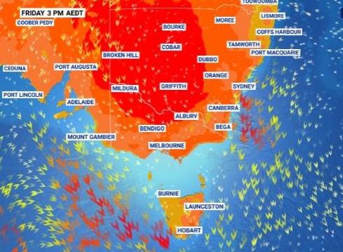 La côte est de l'Australie se réchauffera cette semaine, les températures les plus chaudes arrivant du jeudi au samedi. Source: Sky News Météo