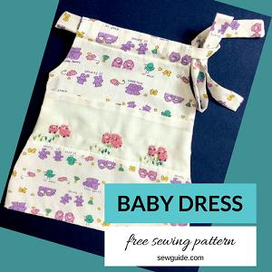 robe de bébé modèle bricolage