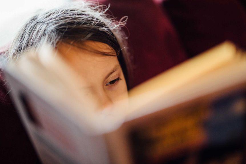 Grand plan, de, enfant, livre lecture