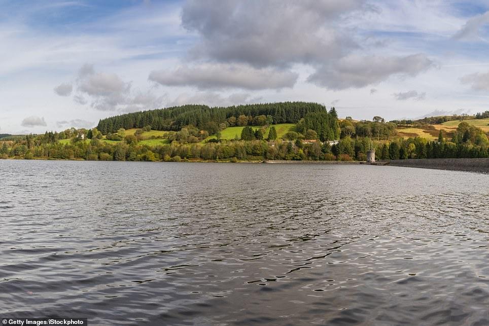 La vue sur le réservoir de Llwyn-on près de Merthyr Tydfil, Mid Glamorgan, Pays de Galles